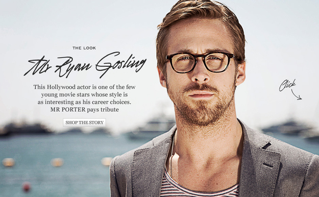 Ryan Gosling wants you to buy your friend Warby Parker crap.